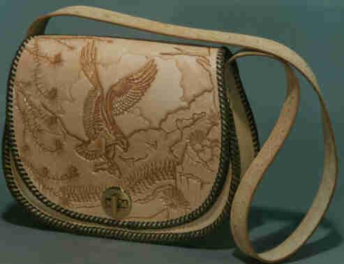 Decorative Leather Bag - Fish Eagle