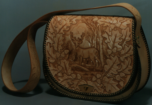 Decorative Leather Bag - Stag